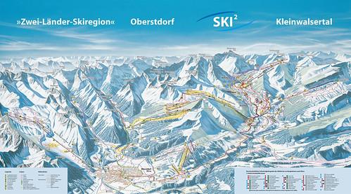 Oberstdorf - mapa sjezdovek