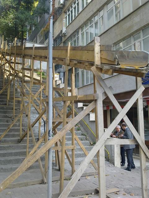 Construction Garbage Chute : Construction trash chute istanbul very long