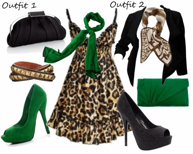 How to Wear Deep V-Neck Leopard Dress