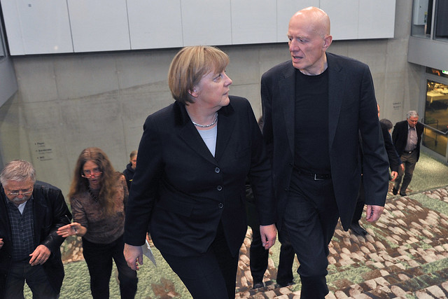 Bundeskanzlerin Angela Merkel mit Ralf Fücks