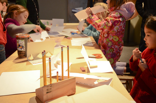 Cardboard pop-up workshop with Brightworks