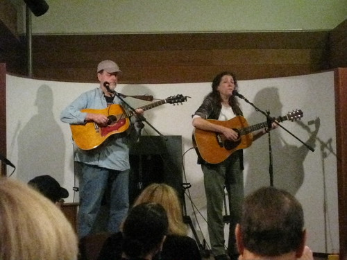Tom Griffith & Martha Trachtenberg were among the musicians and poets at the opening reception