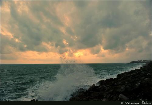 sunset sea mer france nikon waves wind montpellier vagues badweather vend sète languedocroussillon photographe hérault méditerrannée intempéries d700 véroniquedelaux créatitudesnolimits »véroniquedelaux» delaux «photographemontpellier»