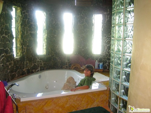 jacuzzi and spa at luxury hotel in the caribbean bay islands