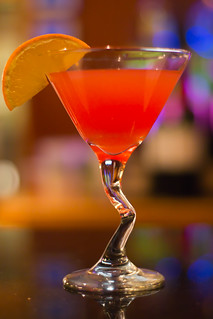Electric Peach Martini