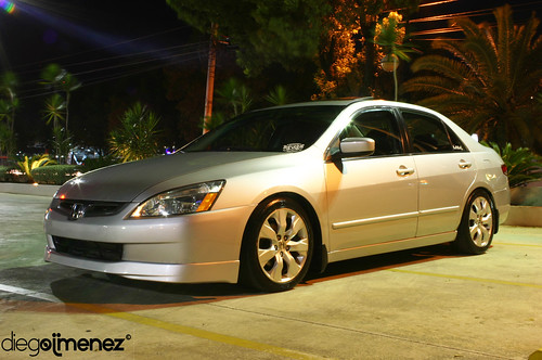 silver 7th gen accord with 8th gen wheels rims