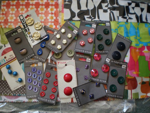 Cards of buttons