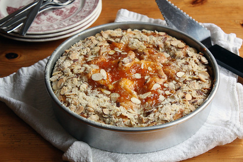 almond-apricot coffee cake.