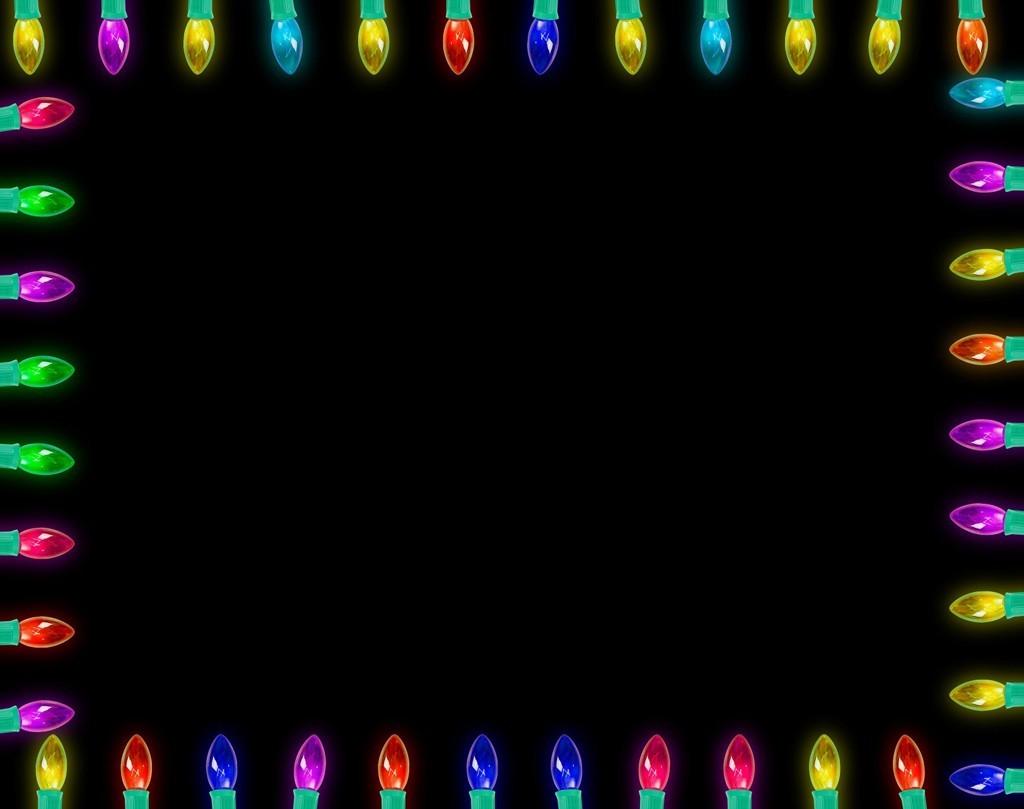 Christmas lights frame created for your Christmas creations if you ...