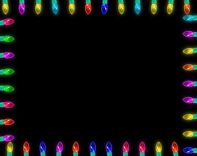 Picnik Christmas Lights Frame Template | Flickr - Photo Sharing!