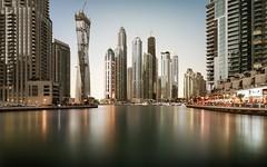 Sunset at Dubai Marina