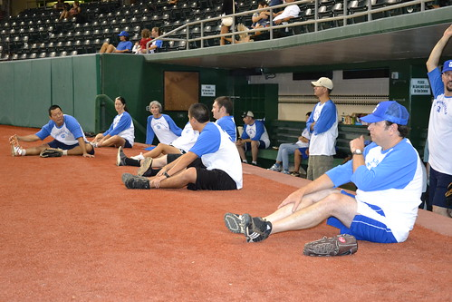 <p>The Kap'olani Royals wait between games at the UH AUW Softball Tourment at Les Murakami Stadium on Sept. 30, 2011</p>