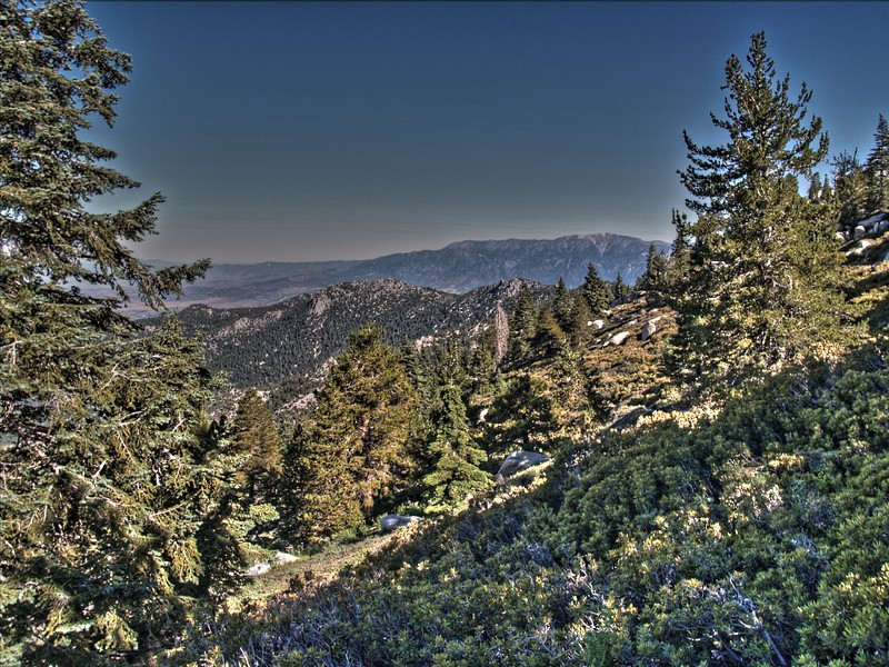 HDR photo looking north toward San Gorgonio Mountain