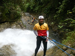 walking(0.0), ultramarathon(0.0), adventure(1.0), sports(1.0), recreation(1.0), outdoor recreation(1.0), extreme sport(1.0), abseiling(1.0), climbing(1.0), canyoning(1.0),