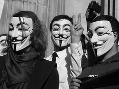 Protesters at the first Occupy London demonstration on 15 October last year.  Image from xpgomes8's photostream