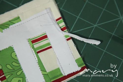 Removing the outside part of the paper template