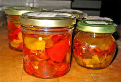 pickled cucumber(0.0), peppers(0.0), plant(0.0), produce(0.0), fruit(0.0), vegetable(1.0), pickled foods(1.0), achaar(1.0), tursu(1.0), pickling(1.0), food preservation(1.0), food(1.0), cuisine(1.0), canning(1.0),