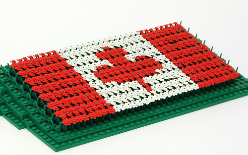 Canadian Flag Flower Mosaic
