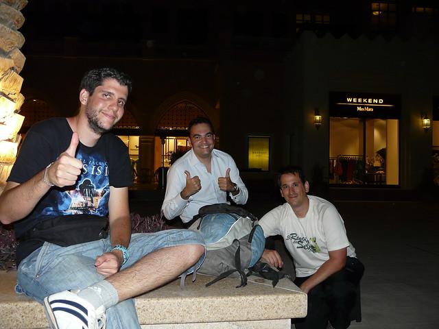 Pablo, Diego y Sele en Doha (Qatar)