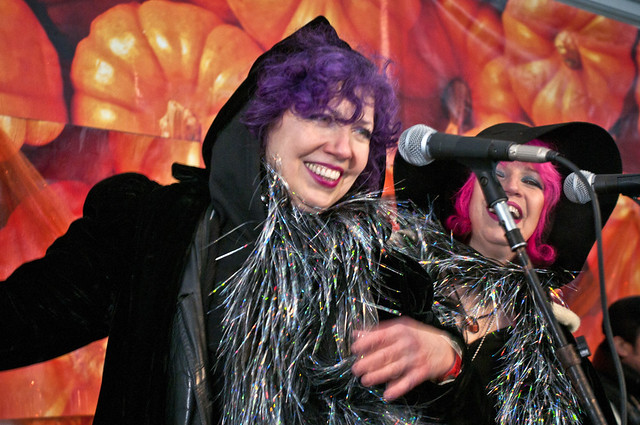 The Itinerants warm up the crowd with a mix of Cajun and Celtic rock at Ghouls & Gourds 2011. Photo by Mike Ratliff.