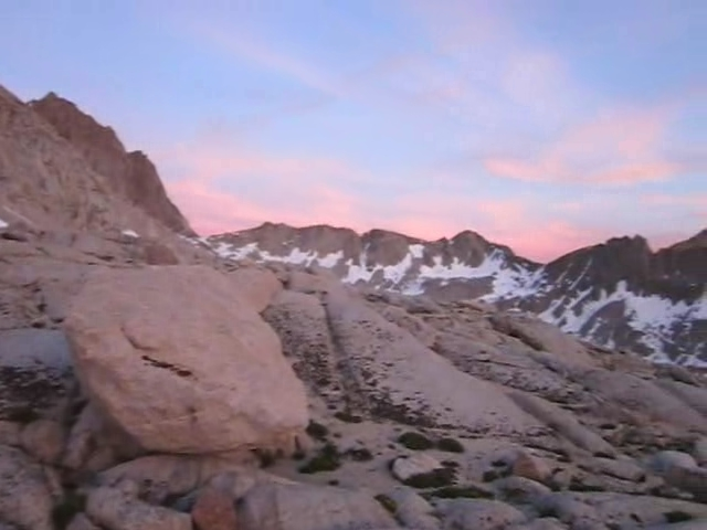 0646 Dusy Basin sunset panorama video