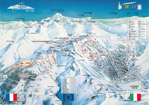 La Thuile / Espace San Bernardo - mapa sjezdovek