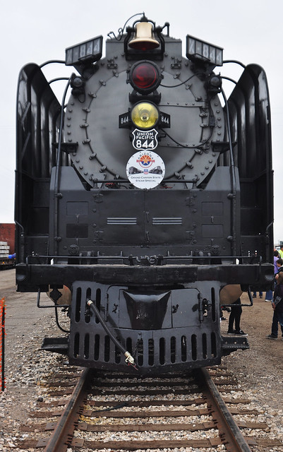 Union Pacific 844 Steam Locomotive front boiler view/U.P ...