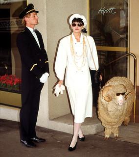 Model with Sheep at Hyatt on King Street, Sydney