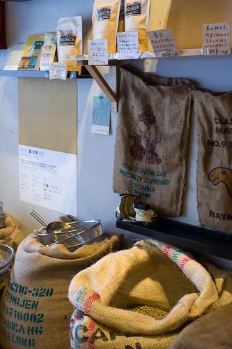 店裡還有烘焙好的咖啡豆賣哦