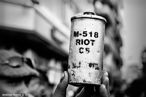 USA-Made teargas canister - Tahrir Battle