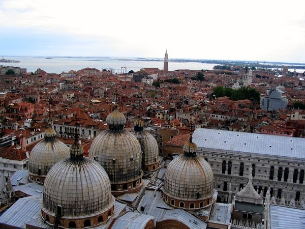 venice from the bell tower