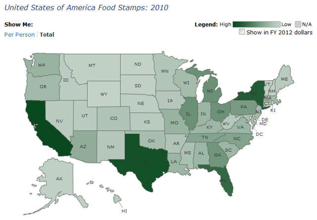 FY 2010 Food Stamp Spending
