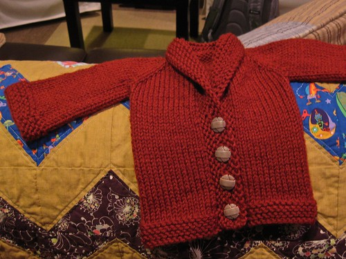 Rubber Baby Buggy Jumper (OK...Cardigan!) FO1