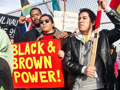 A demonstration in Milwaukee illustrated the growing unity between African American and Latino/as youth. Both oppressed nations suffer immensely under US imperialism. by Pan-African News Wire File Photos