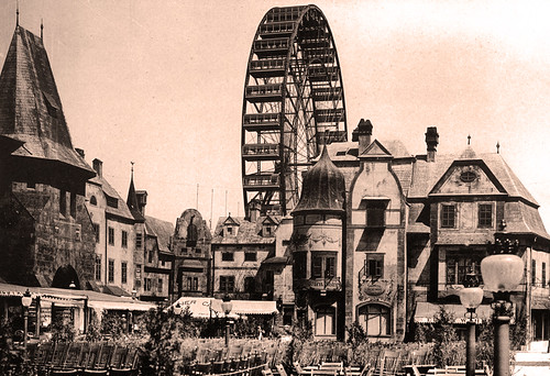 German Village and Ferris Wheel, Midway Plaisance
