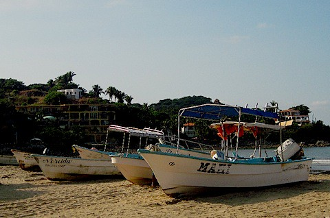 Fishing Boats on Beach in Sayulita 11-25-11.jpg
