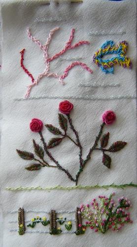 Barred Chain Stitch sampler