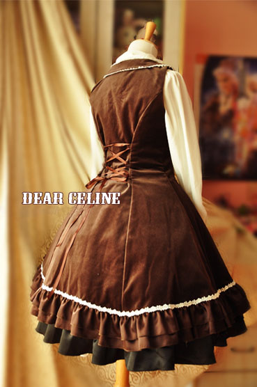 Dear_Celine_Winter_Formal_Low_Collar_Front_Opening_Velvet_Lolita_Dress_7