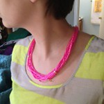 Neon Twine Necklace