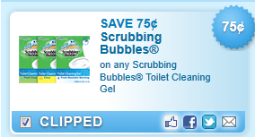 Scrubbing Bubbles Toilet Cleaning Gel Coupon