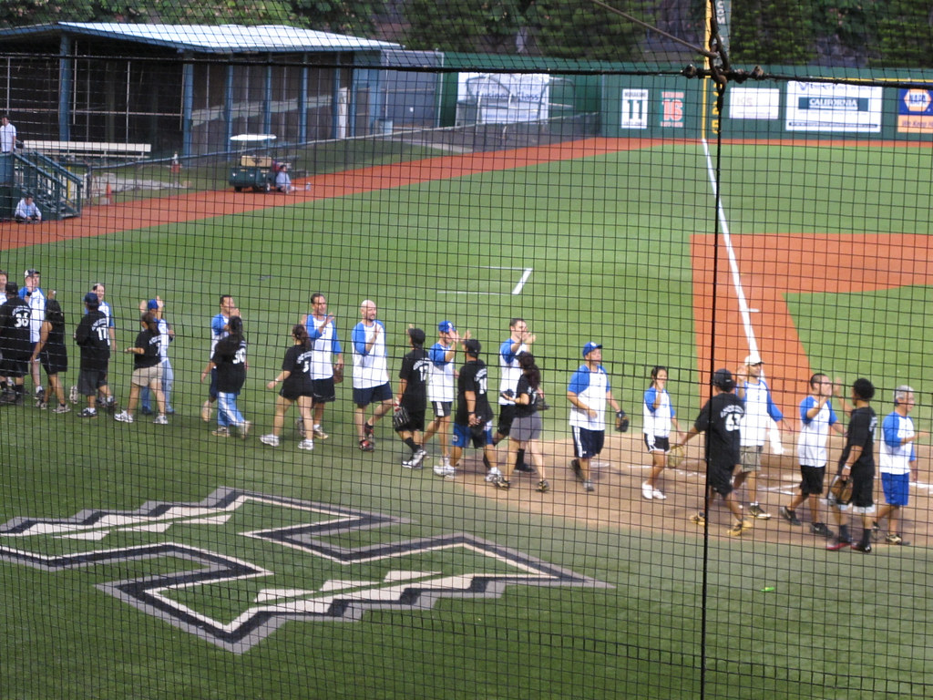 <p>Teams and fans shared in good-natured rivalry for a good cause in the UH AUW Softball Tourment at Les Murakami Stadium on Sept. 30, 2011-- tournament entry fees went to support community programs</p>