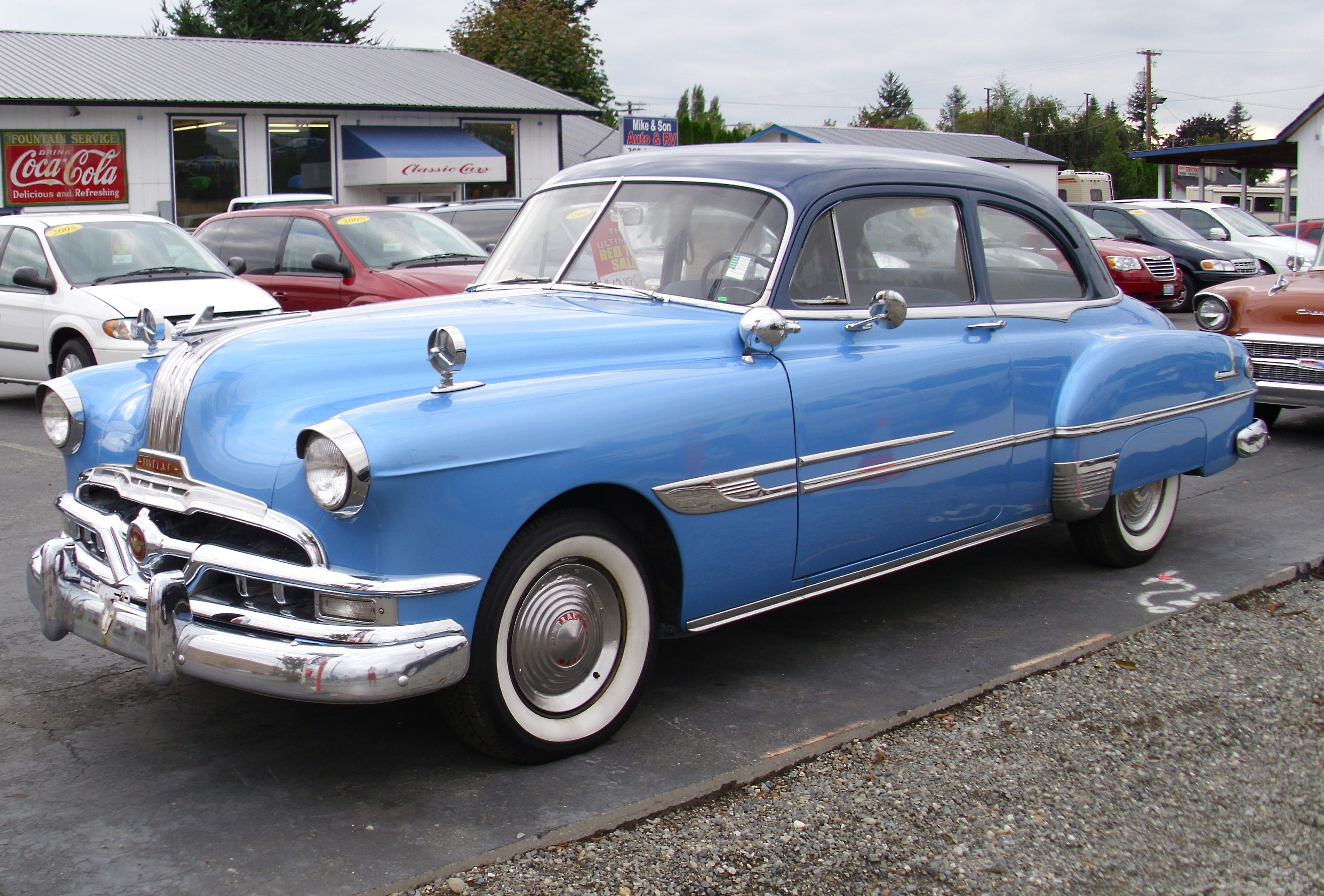 Big M Ford >> 1952 Pontiac | On a used car lot, asking $13,995. Nice look… | Flickr - Photo Sharing!