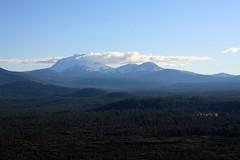 Lassen Peak from Hat Creek Rim Overlook