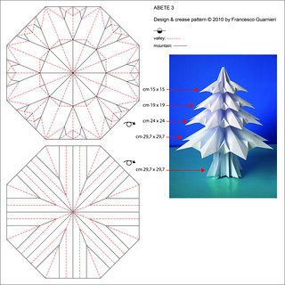 Abete 3 - Fir tree 3 (Crease Pattern)