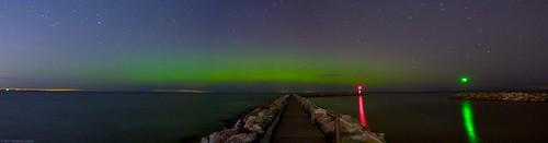 green rochester astronomy lakeontario solarwind northernlights auroraborealis seabreeze steelopus