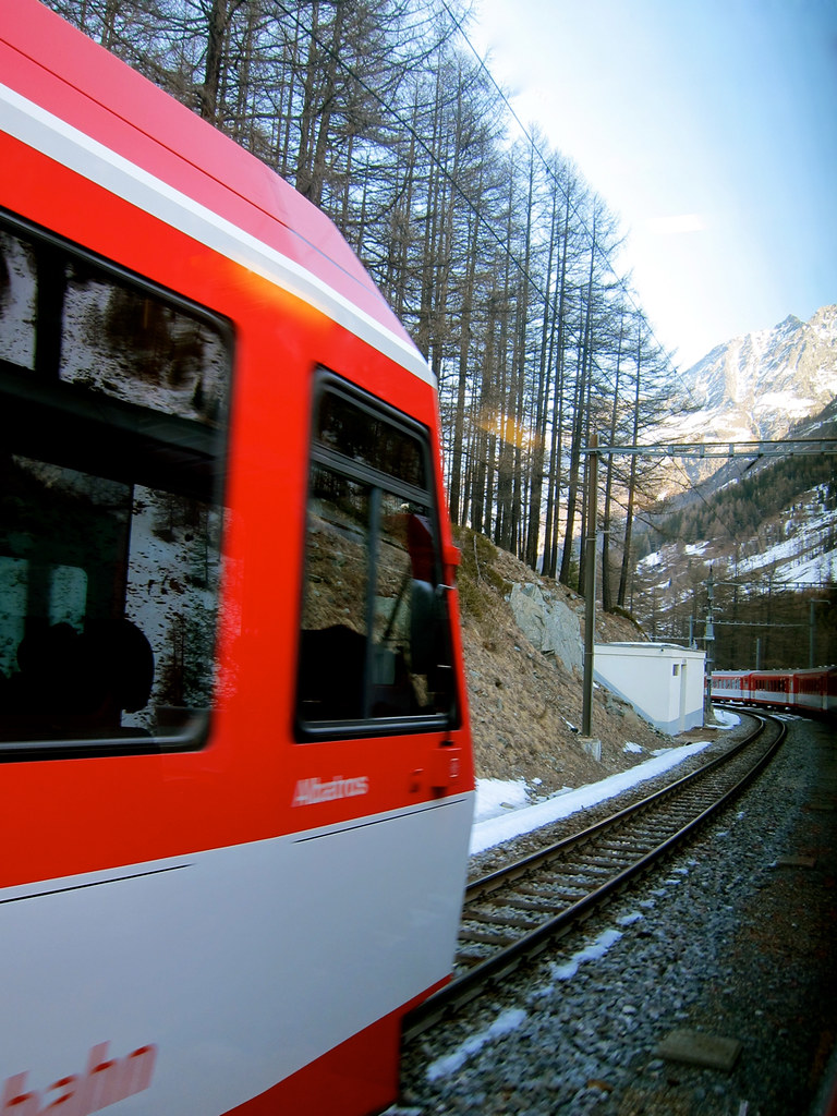 Train ride from Zermatt to Zurich