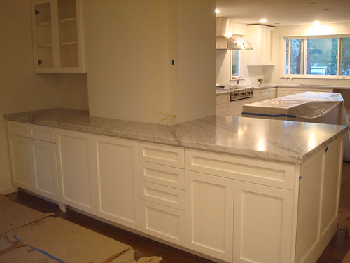 Please post pictures of your counter tops for Bleaching kitchen cabinets