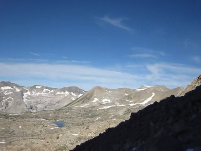 0722 Dusy Basin panorama video from below Mount Winchell