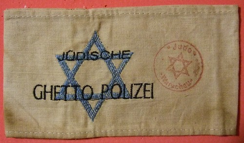 WARSAW GHETTO, POLAND ---JEWISH GHETTO POLICE ARM BAND EARLY 1940's by woody1778a