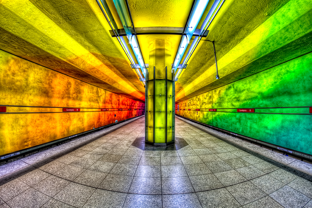 Psychedelic Subway, Candidplatz Subway Station in Munich